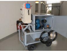 Sistema de automação eletro-hidráulico móvel para acionamento de cilindros hidráulicos com opção de acionamento dos solenóide através das botoeiras alocadas no frontal do painel elétrico (opção local) ou acinamento pelo transmissor de rádio frequência (opção remota).
